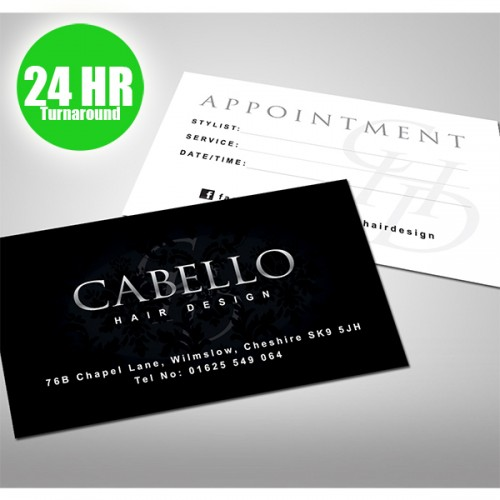 Business cards 24 hour turnaround 300gsm double sided colourmoves