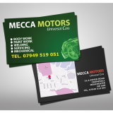 Luxury Business Cards, 400gsm, Un-laminated, Litho