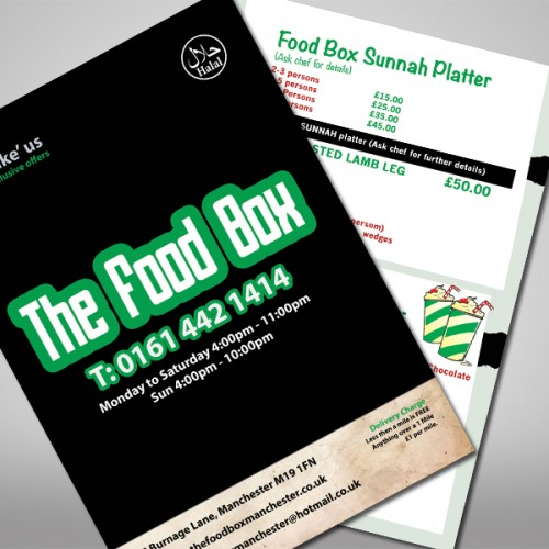 a3 folded menu contact us for prices