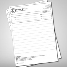 Invoice Books, A4, 2 part, Black and White