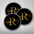 80mm Circular Stickers Gloss